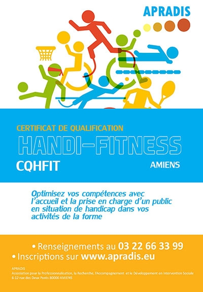 Nouveau : L'Apradis propose un Certificat de Qualification HandiFitness